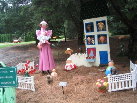 Old Lady Who Lived in a Show, 2008 Huntsville Botanical Gardens Scarecrow Scene